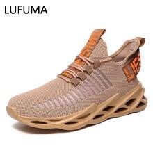 Erkekler hafif bıçak koşu ayakkabıları darbeye dayanıklı eksikliği nefes Sneakers yükseklik artış yürüyüş spor ayakkabı adam Zapatos Hombre