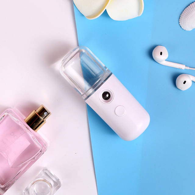 USB Rechargeable Humidifier Nano Mist Sprayer Facial Nebulizer Vapor Moisturizing