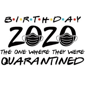 День рождения 2020 тот, где они были изолированы моющиеся наклейки для одежды DIY Пластыри для теплопередачи