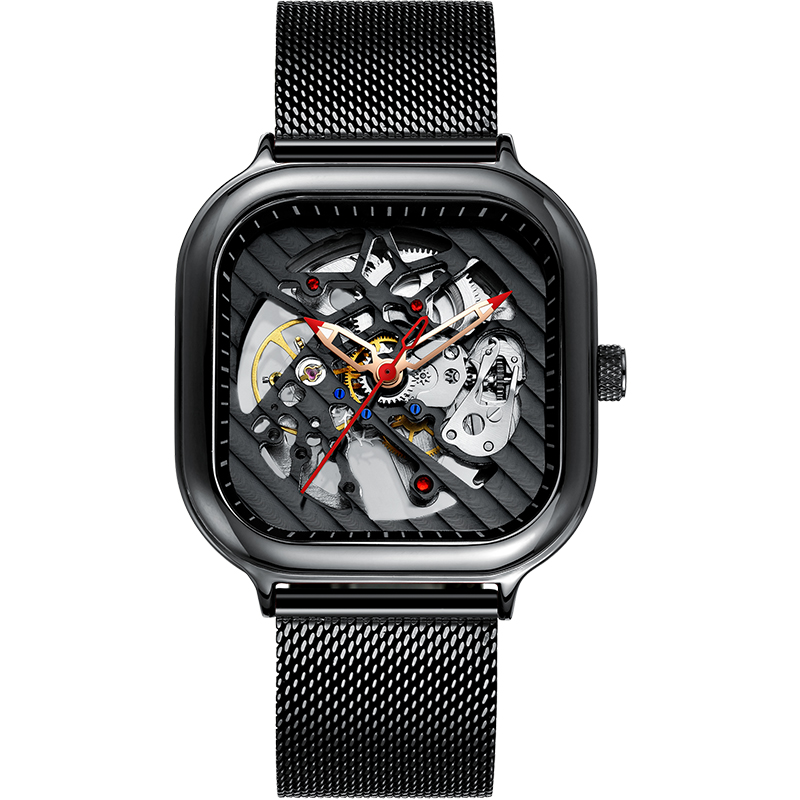 2020 new men's automatic watch top brand luxury silicone strap hollow Swiss square top ten watches 20