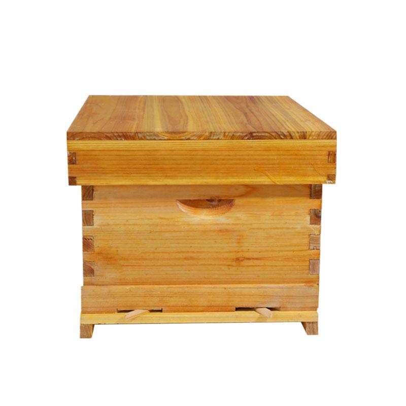 Последняя дешевая 51*41*26 см утолщенная коробка с Сотами Водонепроницаемая 10 деревянных рамок оборудование для пчеловодства Собранный пчелиный мед поток улья - Цвет: Бежевый