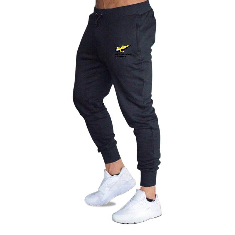2019 Fall Men's Black Doodle Print Trousers Jogger Men's Pants Casual Slim Fit Men's Fitness Sweatpants Big Size Wholesale