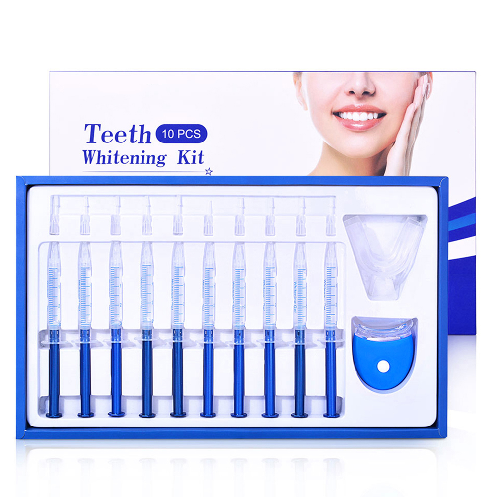 10pcs Teeth Whitening Dental Bleaching System Oral Gel Kit Tooth Whitener Dental Equipment Cold Light Tooth Beauty Suit