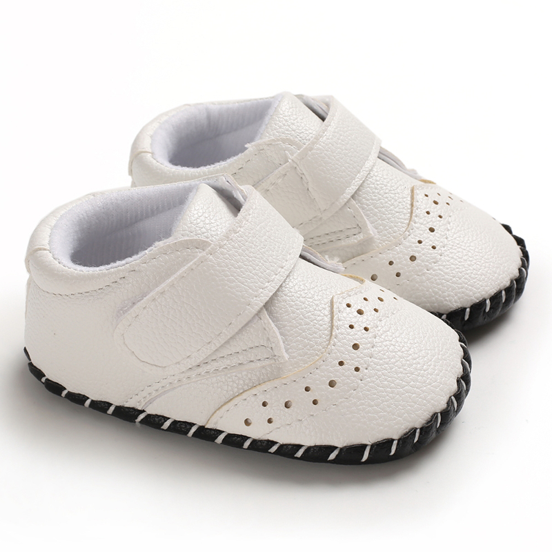 New Baby Shoes Leather Moccasin Infant Footwears Black Shoes For New Born Leather Baby Boy Shoes For 0 -18M Babies Whoesaler