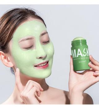 Clean Face Mask Beauty Skin  Green Tea Clean Face Mask Stick Cleans Pores Dirt Moisturizing Hydrating Whitening Care Face TSLM2 caicui amino acid essence cleansing cream gel clean pores whitening moisturizing face care oil control plant hydrating skin care