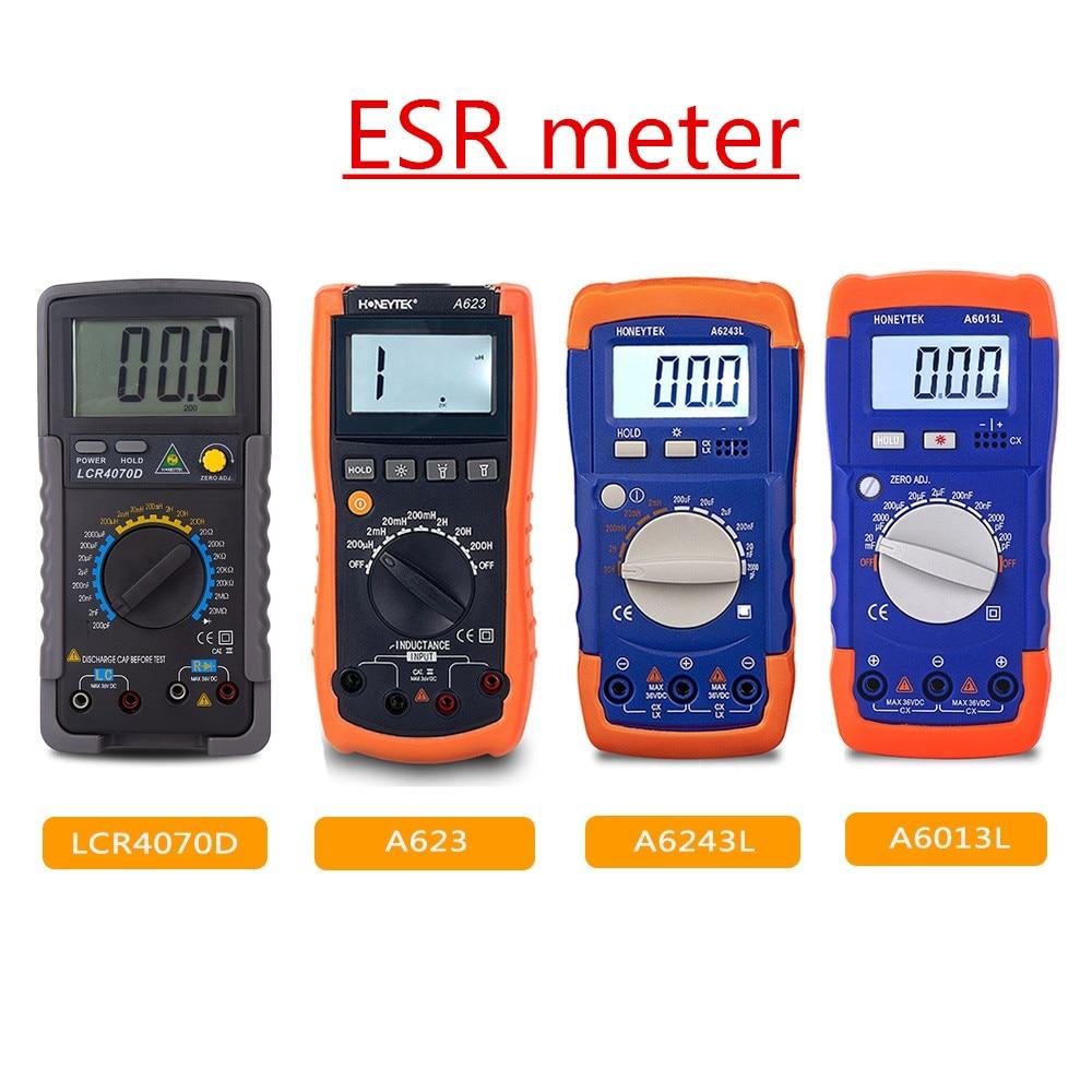 Профессиональный цифровой измеритель емкости, мультиметр ESR LCR, измеритель емкости конденсатора, тестер индуктивности, ЖК дисплей с подсветкой Мультиметры      АлиЭкспресс