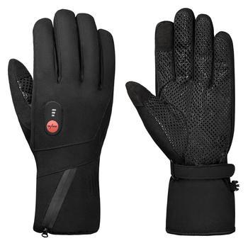 Спаситель нагревательные перчатки для зимних видов спорта на открытом воздухе для верховой езды теплая батарея 7,4 в безопасный нагрев напр...