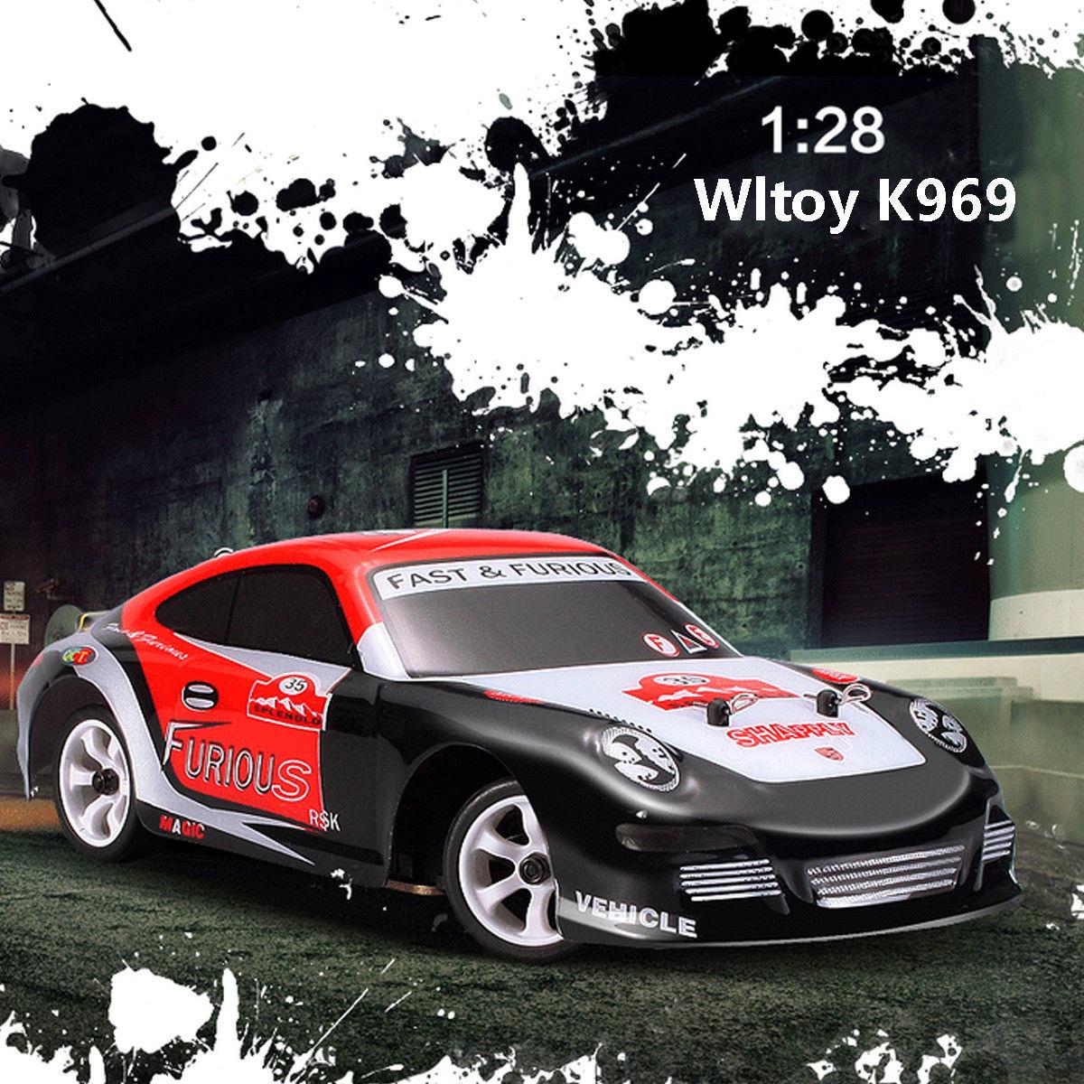 Wltoys K969 1/28 2.4G 4WD haute qualité brossé Mini voiture RC dérive voiture 30 KM/H véhicule jouet jouets de plein air pour garçon jouets cadeaux