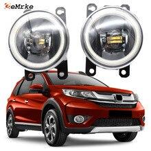 DRL Honda Fog-Lights Daytime Angel-Eye LED for BR-V Cut-Line-Lens Car-Stying
