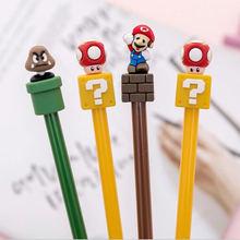 1 шт симпатичная гелевая ручка kawaii super mario милые школьные