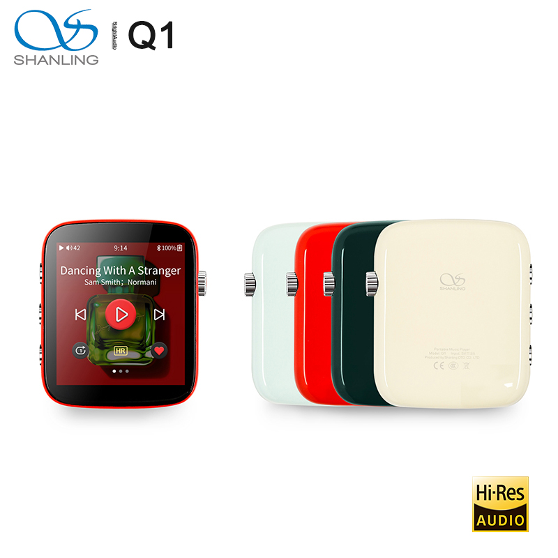 Shanling Q1 ES9218P DAC/AMP Two-way Bluetooth Portable HiFi Audio Music Player MP3 Support DSD128 PCM32bit/384kHz LDAC/aptX