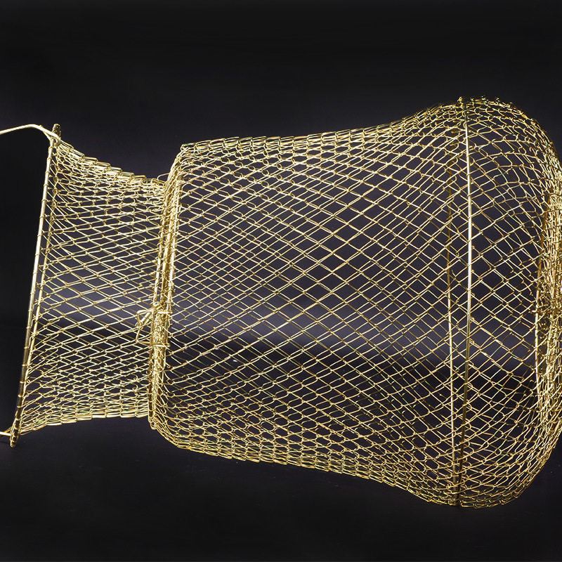 New Style Soft Steel Wire Folding Fish Basket String Bag-Supplies Basket Multi-functional Black Pit Fish Net Quick-Dry Fishing G