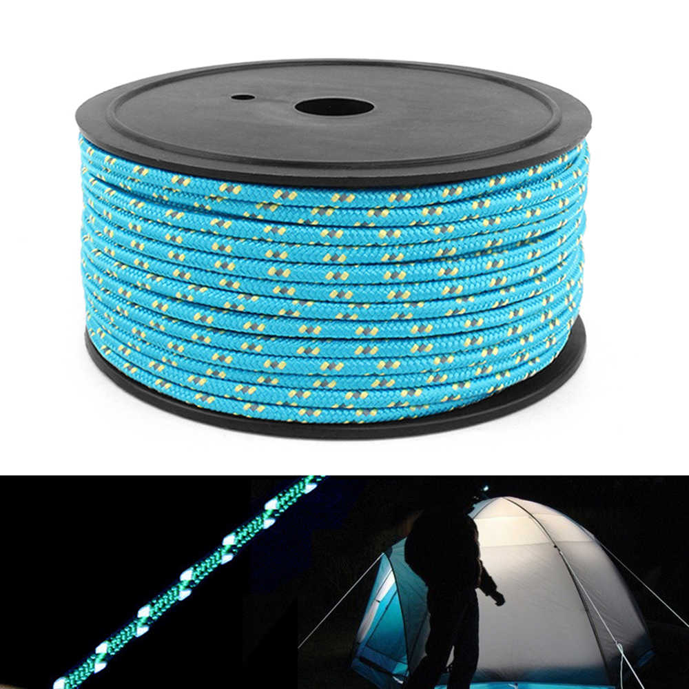 10 m/20 m/50 m 5mm Outdoor Reflecterende Paracord Guyline Tent Touw Camping Cord