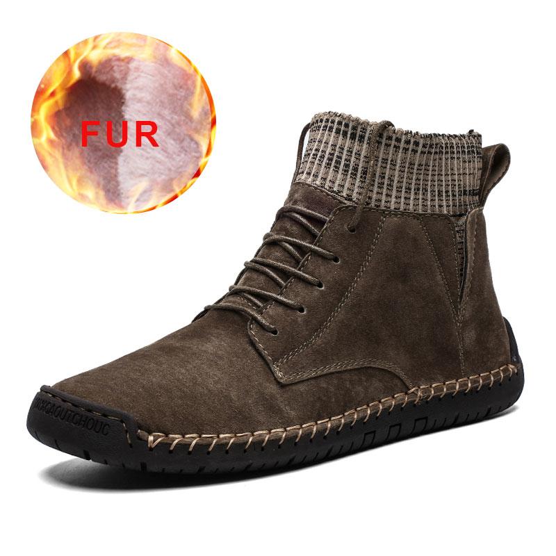 Männer Stiefel Schuhe Herren Schnee Plüsch Knöchel Herren Warm Ankle Winter NEU
