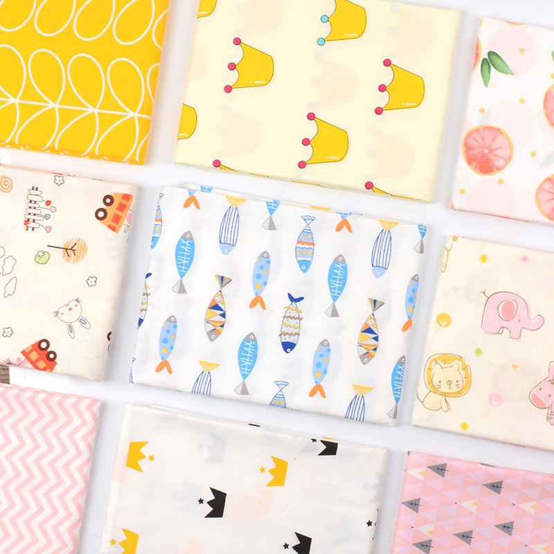 50x160cm Kids Baby Cartoons Twill Cotton Fabric DIY Children's Wear Cloth Make Bedding Quilt Decoration Home