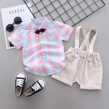 Летние комплекты одежды для детей Костюм Джентльмена мальчиков