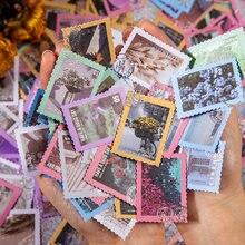 50 sztuk wiosna listonosz serii Vintage pozłacane naklejki DIY Craft Retro kwiaty znaczek naklejki płatki stacjonarne Scrapbooking Retro