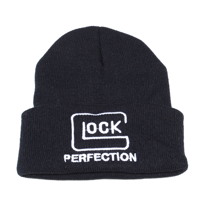 Tactical Glock Letter Knitted hat Crochet Elastic Cap Skullies Warm Winter Unisex Beanie Ski Hat Outdoor Hunting Jungle Hats 22