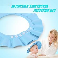 Adjustable Baby Shower Protection Hat Baby Shower Caps Shampoo Cap Wash Hair Kids Bath Visor Hats Adjustable Shield Waterproof