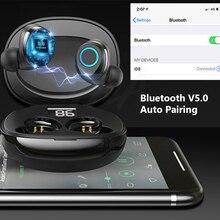 цена на Bluetooth V5.0 Earphone StereoTouch Control Handfree Headset Wireless Earphones Mini TWS Wireless Bluetooth Earphone