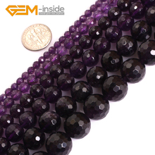 AAA Grade Genuine Natural Purple Amethysts Smooth Faceted Su