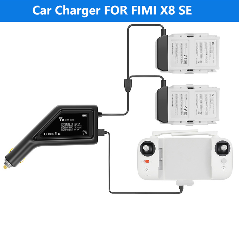 Car Charger Adapter for DJI Inspire 2 Intelligent Flight Battery RC 26.1V 4A