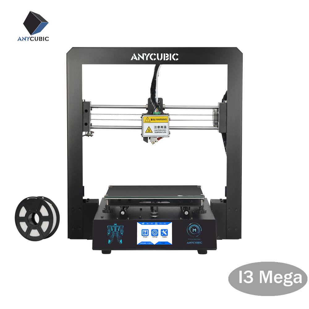 ANYCUBIC Cheap 3D Printer I3 Mega Plus Printing Size ABS PLA Desktop DIY Kits Filament Upgraded