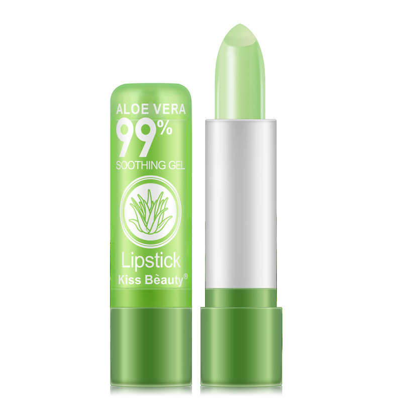 1 PCS Aloe Vera Natural Moisturizer Lipstick Temperature Changed Color Lipbalm Natural Magic Pink Protector Lips Makeup TSLM2 4