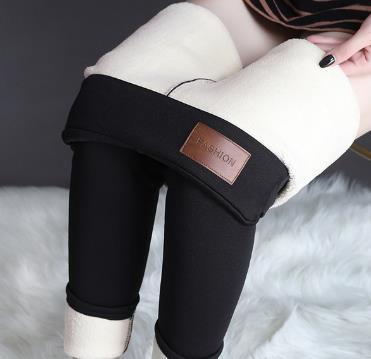 Hb8984dd2793e4d1ebce8d8feb1dee08e9 CHRLEISURE Warm Women's Plus Velvet Winter Leggings Ankle-Length Keep Warm Solid Pants High Waist Large Size Women Leggings