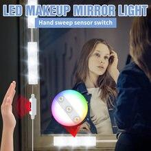 Светодиодный макияж зеркало светильник usb 5v ручная развертка