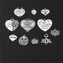 22 шт., серебряные подвески в виде сердца