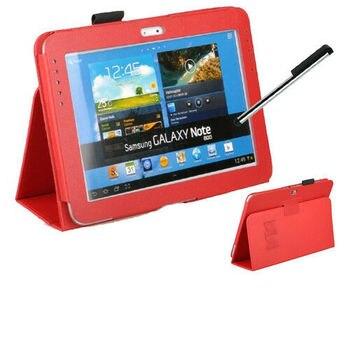 """Tablet PU skórzane etui pokrywa dla Samsung Galaxy Note 10.1 """"2012 Release GT-N8000 N8000 N8010 N8020 stojak pokrywa Funda Conque Case"""