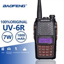 Baofeng UV 6R оранжевый клавиатура 7 Вт иди и болтай Walkie Talkie UHF VHF двухполосный УФ 6R радиостанцией FM 128CH VOX Ham Радио UV6R для охоты радио