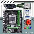 Хорошая HUANANZHI X79 M-ATX скидка материнская плата CPU Xeon E5 2670 C2 6 heatpipe cooler RAM 2*8G 1600 RECC 1 ТБ SATA HDD GTX750Ti 2G