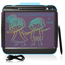 9-Polegada recarregável transparente usb lcd escrita tablet crianças copiar graffiti desenho almofada trabalho em casa escritório registro placa de mensagem