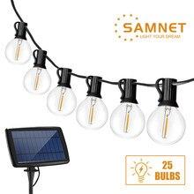 25 pçs g40 lâmpadas led solar luz jardim ao ar livre luzes da corda paisagem guirlanda luz natal decoração do feriado luz