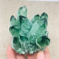 270 300g Natural Green Ghost Phantom Quartz Crystal Cluster Healing Specimen