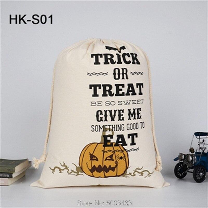 Halloween Drawstring Bag 300pcs/lot Wholesale Sack Candy Handbag 9 Styles Sack Halloween Gift Pumpkin Bags Party Decoration