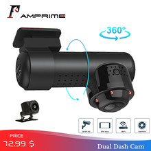 AMPrime Car DVR APP & English Russian Voice Control 1080P HD IR Night Vision Car Camera Recorder WiFi Dash Cam(China)