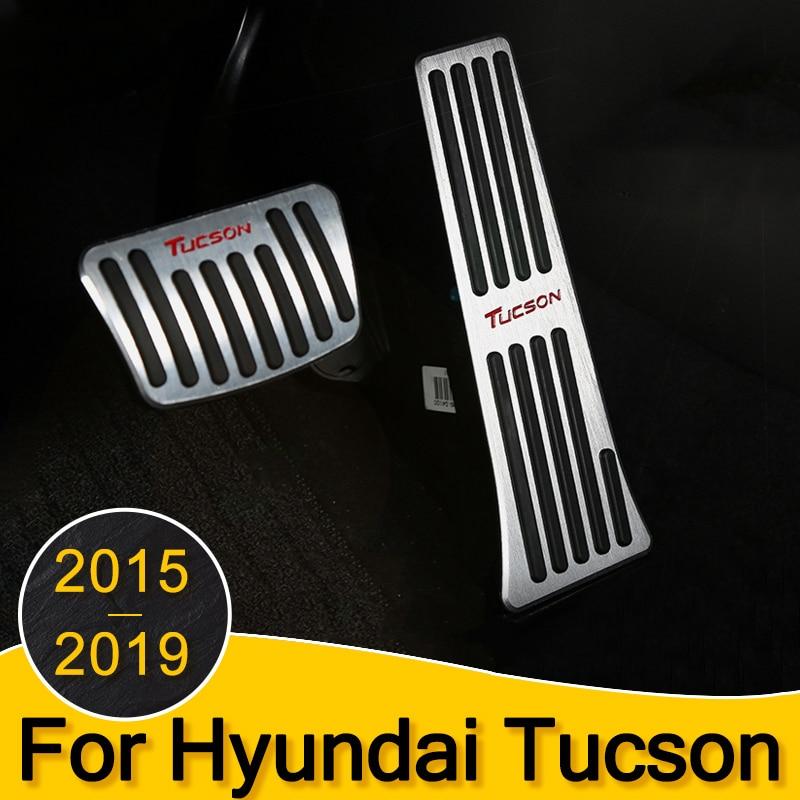 Acelerador de coche Freno de Gas embrague Pedal reposapiés cubierta de placa AT/MT para Hyundai Tucson 2015 2016 2017 2018 2019 Accesorios