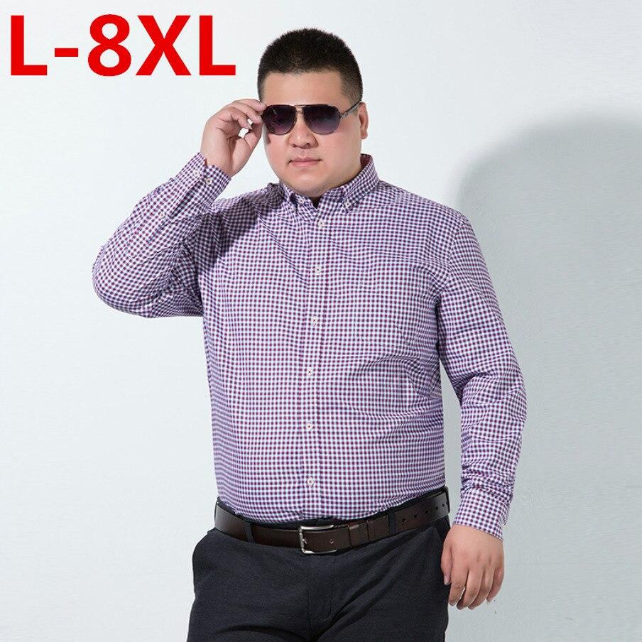 Big SizeCamisa Cuadros Hombre Brand Dress Shirts Mens Plaid Shirt Slim Fit Chemise Homme Men Shirt Heren Hemden Camisa Masculina