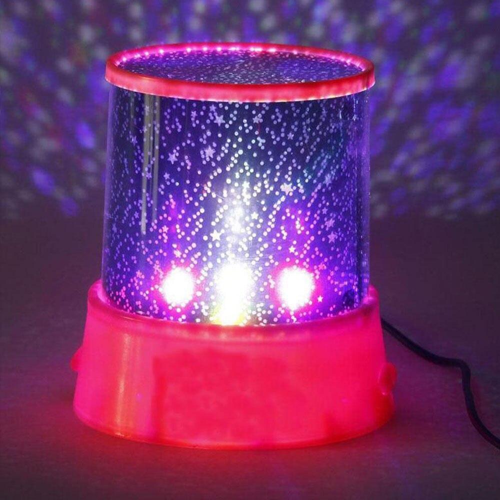 Star Sky Night Light Projector Romantic Star Sky Pink Gift Christmas Dreamlike Baby Kid Cosmos Universal Novelty Lighting