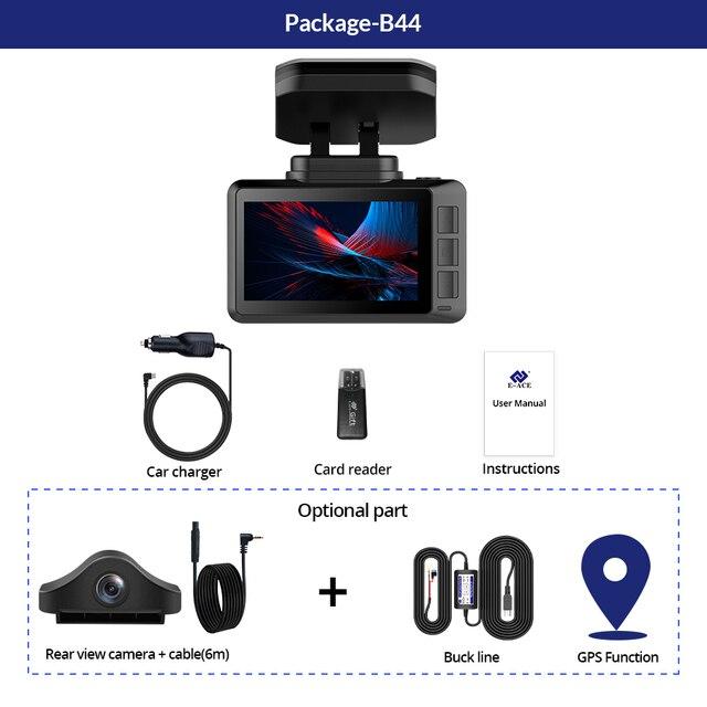 E-ACE B44 Car Camera 4K Dash Cam GPS Track WiFi Car DVR Dashcam Sony IMX335 Sensor Night Vision Recorder 6