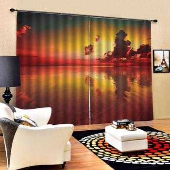 sunset lake sky curtains Luxury Blackout 3D Window Curtains For Living Room Bedroom Customized size Drapes Cortinas