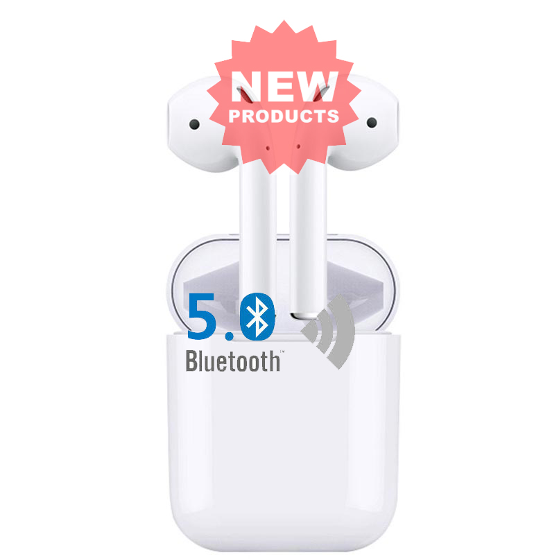 SmoPods True Wireless Bluetooth Stereo Earphone APO 2 Wireless Charging Sports Earbuds Dual Mic For IOS iPhone Android Phone
