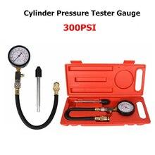 Tester ciśnienia w cylindrze kompresyjnym samochodu zestaw wskaźników detektor narzędzie diagnostyczne przyrząd do pomiaru zaworu samochodowego