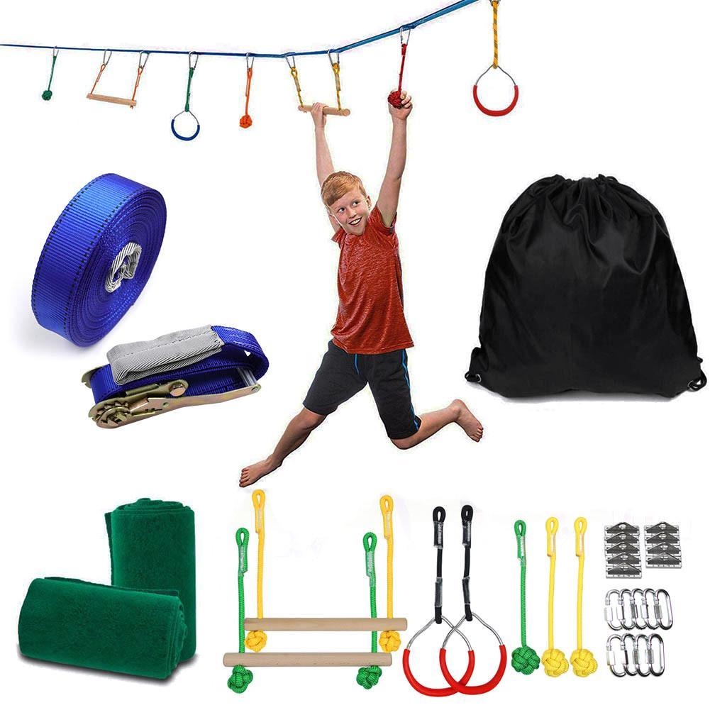 Linha de Obstáculo Equipamento de Treinamento para Quintal ao ar Ninja Guerreiro Slackline Pendurado Obstáculo Livre Kit