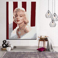 Eternal Monroe DIY Painting By Numbers Kits Calligraphy Painting Acrylic Paint By Number For Home Decoration A work of art