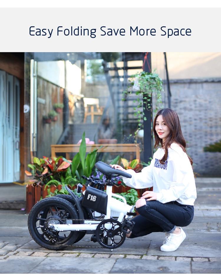 16'' lithium battery folding ebike adult electric bike city folding ebike with 36v 250w brushless motor 3