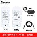 Умный переключатель Sonoff TH 10A/16A  Wi-Fi контроллер с датчиком температуры и влажности